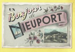 * Nieuwpoort - Nieuport (Kust - Littoral) * (Edit Gegy) Carte à Système, Bonjour De Nieuport, Systeemkaart, Unique, TOP - Nieuwpoort