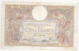 100 FRANCS O. MERSON  1939   6/07/39 V67091 - 100 F 1908-1939 ''Luc Olivier Merson''