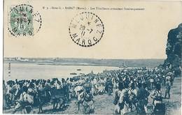 Maroc MEQUINEZ CAD 29.7.1911 Sur Type Blanc Cpa RABAT Les Tirailleurs Attendent L'embarquement ... G - Marokko (1891-1956)