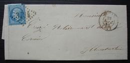 Saint Malo 1864 Gc 3734 ,lettre Pour Saint Aubin Du Cormier, Cachet Bureau De Passe 3112 Au Revers - Postmark Collection (Covers)