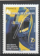 France 2019 : Timbre De Service** 174. 70e Anniversaire De La Fondation Du Conseil De L'Europe - Officials