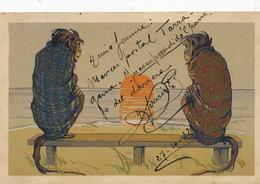 Art Card. Human Monkeys . Singe Humains . Naciso Diaz De Escovar Malaga - Singes