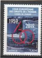 France 2019 : Timbre De Service** 175. 60e Anniversaire De La Fondation De La Cour Européenne Des Droits De L'Homme. - Ungebraucht