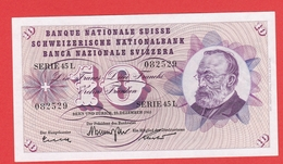 SUISSE  Billet  10 Francs  23 12 1965  - Pick 45 - Suisse