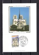 """"""" NOTRE-DAME DE PARIS """" Sur Carte Maximum En Soie De 2004 N° YT 3705  En PARFAIT état. CM - Cartas Máxima"""