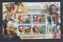 Burundi Minerals Minéraux èNobel Nelson MANDELA Albert LUTULI Couleurs Claires - Minéraux