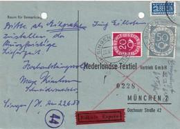 BUND  1953 CARTE DE COMMANDE EXPRES DE SINGEN - [7] República Federal