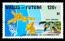 WALLIS ET FUTUNA 1979 - Yv. PA 99 Obl.   Cote= 4,00 EUR - TELECOM'79 Expo Télécommunications  ..Réf.W&F22572 - Luftpost