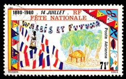 WALLIS ET FUTUNA 1980 - Yv. PA 103 Obl.   Cote= 1,60 EUR - Fête Nationale Du 14 Juillet  ..Réf.W&F22575 - Luftpost