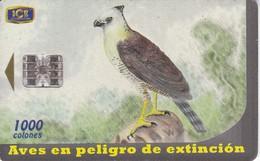 TARJETA DE COSTA RICA DE UN AGUILA CRESTADA (EAGLE) - Costa Rica