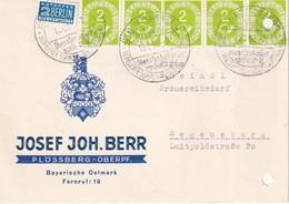 BUND  1954 CARTE DE FLÖSSBERG - [7] República Federal