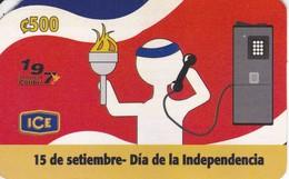 TARJETA DE COSTA RICA DEL DIA DE LA INDEPENDENCIA - Costa Rica