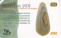 TARJETA DE COSTA RICA DEL MUSEO DEL JADE - Costa Rica
