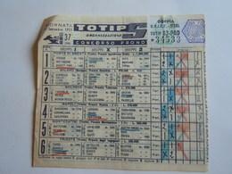SCHEDINA GIOCATA TOTIP CORSE CAVALLI GIORNATA 374 1955 RADIO ELETRONICA TELEVISIONE - Equitation