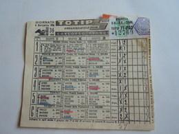 SCHEDINA GIOCATA TOTIP CORSE CAVALLI GIORNATA 36 1955 PACCO PROPAGANDA L 3975 - Equitation