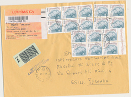 2001 ASSICURATA DONNE 650/0,34 X 16 + BLOCCO 6 50 LIRE CASTELLI - 6. 1946-.. Repubblica