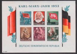Germany  DDR Bl. 8B Ungebraucht, Karl-Marx-Jahr 1953, Karl Marx, Das Kapital, Moskau Stalij Lenin, Lu. Bruch - Blocs