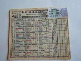 SCHEDINA GIOCATA TOTIP CORSE CAVALLI GIORNATA 30 1954 RADIO ELETRONICA TELEVISIONE ORMA - Equitazione
