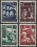 ✔️ Österreich Autriche 1951 - Wiederaufbau - Ank. 977/980 Mi. 960/963 Zentral Gest. (o) - €70 - 1945-60 Used
