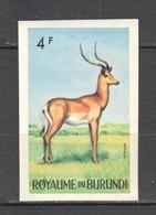 G612 ONLY ONE IN STOCK IMPERFORATE BURUNDI ANIMALS & FAUNA IMPALA 1ST MNH - Postzegels