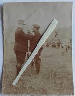 1915 Alsace Vosges 6 Eme BCA Chasseurs Alpins Thann? Joffre Remise De Décorations Poilus Tranchée WW1 14-18  2 Photos - War, Military