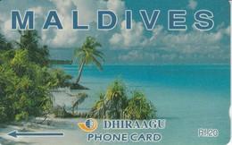 5MLDA - TARJETA DE MALDIVES DE UN PAISAJE DE PLAYA - Maldiven