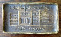 Vide-Poches En Laiton Ou Cuivre : Institut D'Odonto-Stomatologie : XIXème Congrès à Lille 14/10/1965 - Unclassified