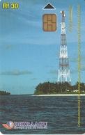 TARJETA DE MALDIVES DE RF30 DE UNA ANTENA DE TELECOMUNICACIONES (335MLDG) - Maldives