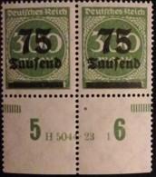 DR 1923 75T Auf 300M HAN  MiNr.: 286A Han  5044.23  1 ** Unused Mi.Pr.: 6.--€ - Duitsland