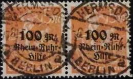 DR 1923 100M Auf 5M Im Paar MiNr.: 258 Gepr. Gest. Used Mi.Pr.: 25.--€ - Duitsland