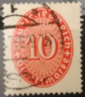 DR 1929 Dienst 10Pf Farbänderung WZ 2 Liegend  MiNr.: D 123Y Geprüft Gest. Used Mi.Pr.: 25.--€ - Dienstzegels