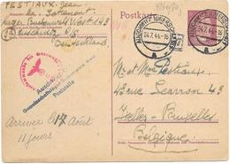 SH 0474. EP Mi P 299 AUSCHWITZ 24.7.44 - Lager BUCHENWALD Vers Ixelles. Censures - Allemagne