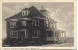 Résidence De Monsieur Armand Letarte, WARWICK, Quebec, PECO (D146) - Quebec