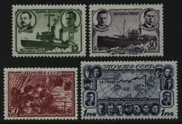 Russia / Sowjetunion 1940 - Mi-Nr. 741-744 ** - MNH - Eisbrecher G. Sedow (III) - 1923-1991 URSS
