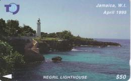 19JAMA - TARJETA DE JAMAICA DE NEGRIL LIGHTHOUSE - Jamaica