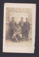 Carte Photo Militaria Portrait  Groupe Militaires Du 106 106è Regiment Infanterie ( Ref 41300 ) - Personnages