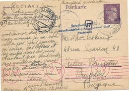 SH 0475. EP ALL. Mi P 299 AUSCHWITZ 17.7.44  - Lager BUCHENWALD Vers IXELLES. Censures Auschwitz Et Aachen. TB - Guerre 40-45