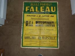 Affiche Brasserie Faleau 1940 Gala Maison Du Peuple  Assistance Aux Mobilisés De Philippeville - Affiches