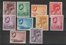 Seychelles 1938 Série Georges VI 118-127 10 Val * Charn. - Seychelles (...-1976)