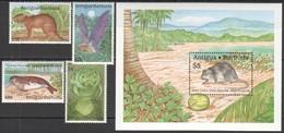 W486 !!! ONLY ONE IN STOCK ANTIGUA & BARBUDA FAUNA WILD ANIMALS MICHEL 20 EURO #1268-71 1BL+1SET MNH - Postzegels