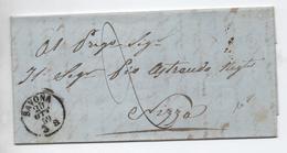 1859 - LETTRE De SAVONA Pour NICE - 1. ...-1850 Prefilatelia