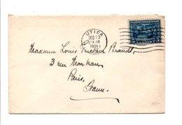 USA ETATS UNIS LETTRE DE UTICA POUR LA FRANCE 1921 - Etats-Unis