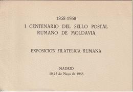 Roumanie 1958 émission Des Réfugiés En Espagne Encart - Cartas