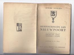 1938 HERINNERINGEN AAN NIEUWPOORT MET ... REUS GOLIATH DIKSMUIDE IEPER OOSTENDE VEURNE LEVECQUE VOORW. M. VAN COPPENOLLE - Storia