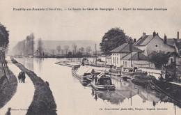 CP 21 Côte D'Or Pouilly-en-Auxois Bassin Du Canal De Bourgogne Départ Du Remorqueur électrique - Other Municipalities