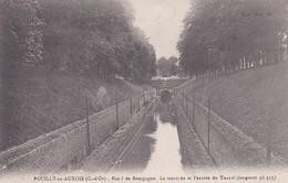 CP 21 Côte D'Or Pouilly-en-Auxois Canal De Bourgogne Tranchée Et Entrée Du Tunnel - Autres Communes