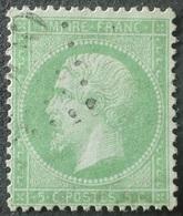 X26 - NAPOLEON III N°20e Vert Clair - Oblitération Légère - 1862 Napoléon III.