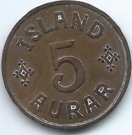 Iceland - Christian X - 5 Aurar - 1940 (KM7.2) - Iceland