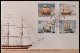 """POR*2900-Portugal FDC With 4 Stamps - """"Naus Da Carreira Da índia"""" - Portugal - 1997 - FDC"""