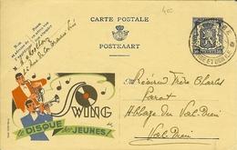 Carte PUBLIBEL 533 Le Disque Des Jeunes SWING De Visé Pour Val-dieu Abbaye. - Entiers Postaux